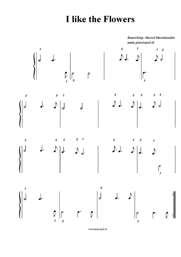 Uitzonderlijk Pianospel - Download gratis kinderliedjes zonder notenbalk VR94